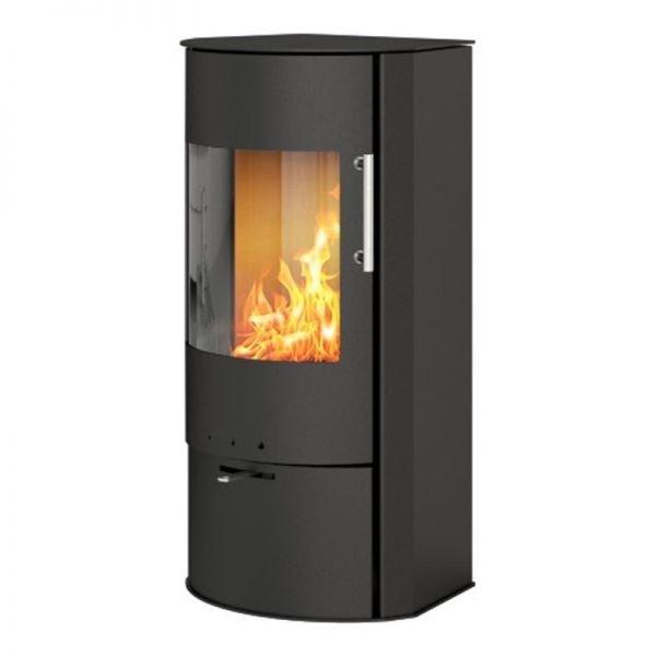 Печь-камин RAIS Rina со стальной дверкой, черная