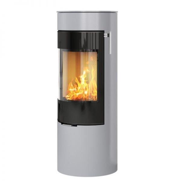 Печь-камин RAIS Viva L 120 со стекляной дверцей цветная