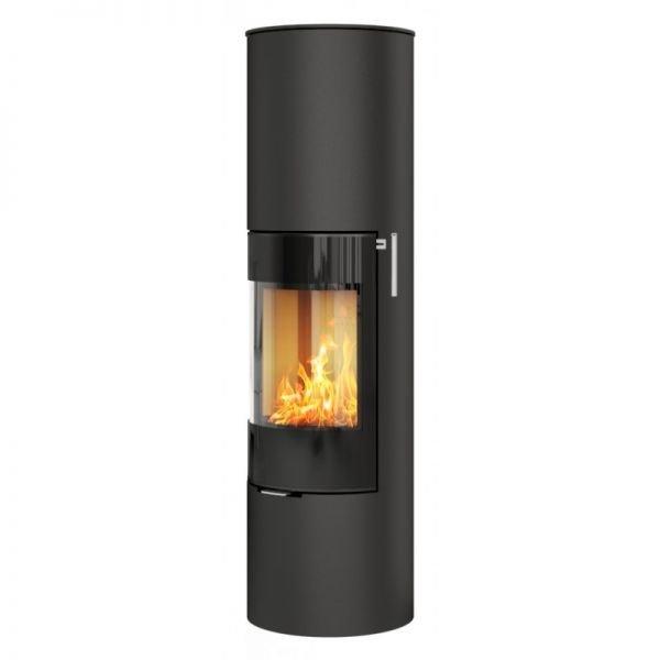 Печь-камин RAIS Viva L 160 черная со стекляной дверцей