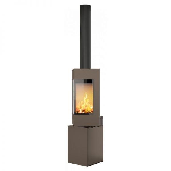 Печь-камин RAIS Q-BE colored стальная дверка