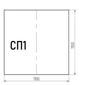Стекло напольное СП1 (под печь) 1100*1100мм