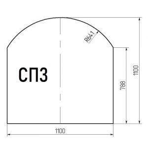 Стекло напольное СП3 (под печь) 1100*1100мм