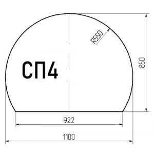 Стекло напольное СП4 (под печь) 1100*850мм