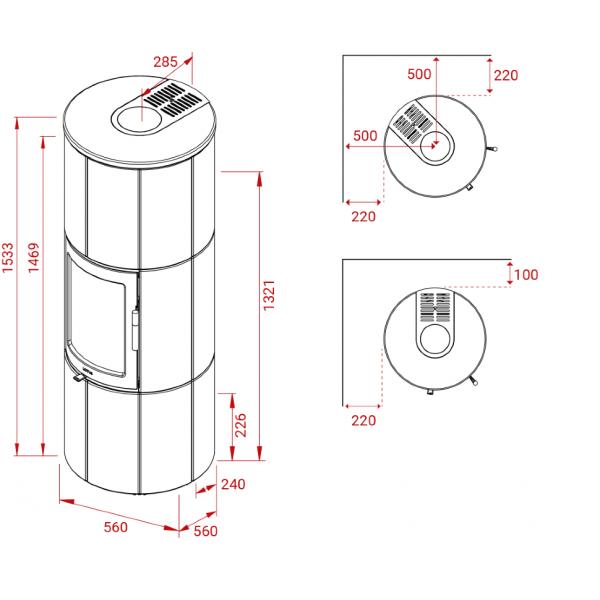 Печь-Камин Lotus Maestro 152M Magic