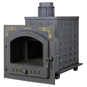 Чугунная банная печь Гефест ПБ-100П-3K