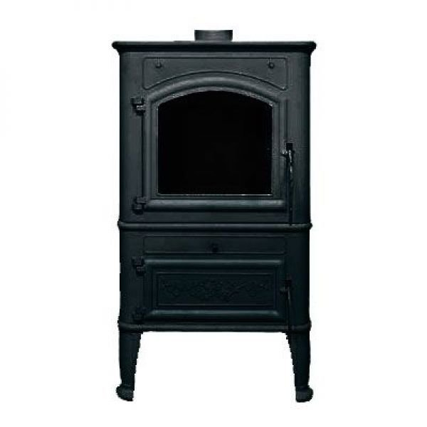 Печь Canaria Lux, черная (Liseo)