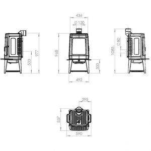 Печь AUTHENTIC 35, эмалированная, серая (Plamen)