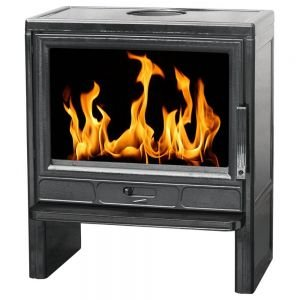 Печь BARUN эмалированная, черная глянцевая (Plamen)