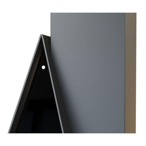 Камин Breda, фронтальный, верт.труба слева, чёрный, RAL (Traforart)