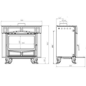 Печь GLAS FRANKLIN, эмалированная (Plamen)