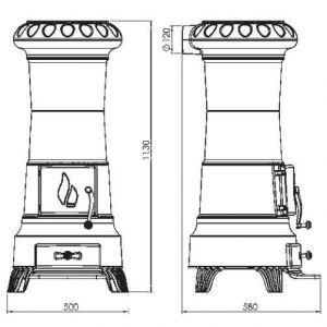 Печь JULIA эмалированная, серая (Plamen)