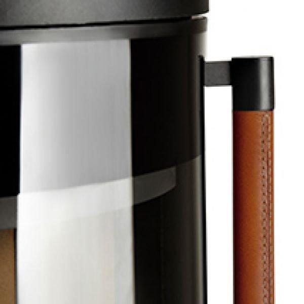Печь K900, низкая, черная, кожаная ручка (Keddy)