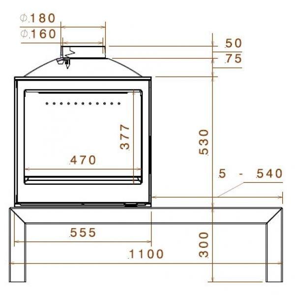 Печь LCI 5 GDF Table, двусторонняя (Liseo Castiron)