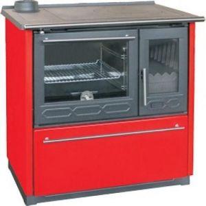 Плита PLAMEN 850 GLAS красная, труба слева (Plamen)