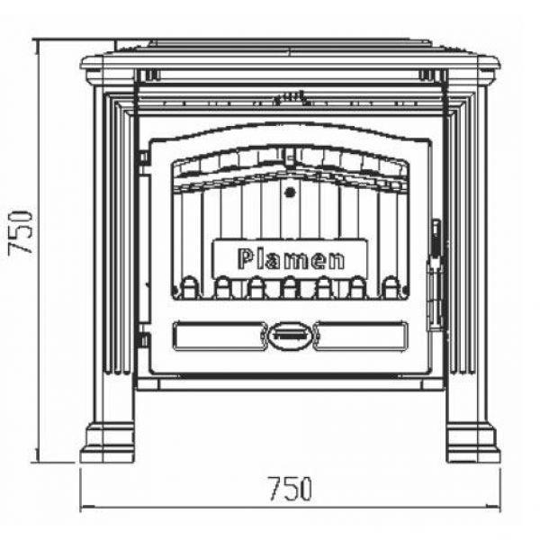 Печь TENA N, эмалированная, черная (Plamen)