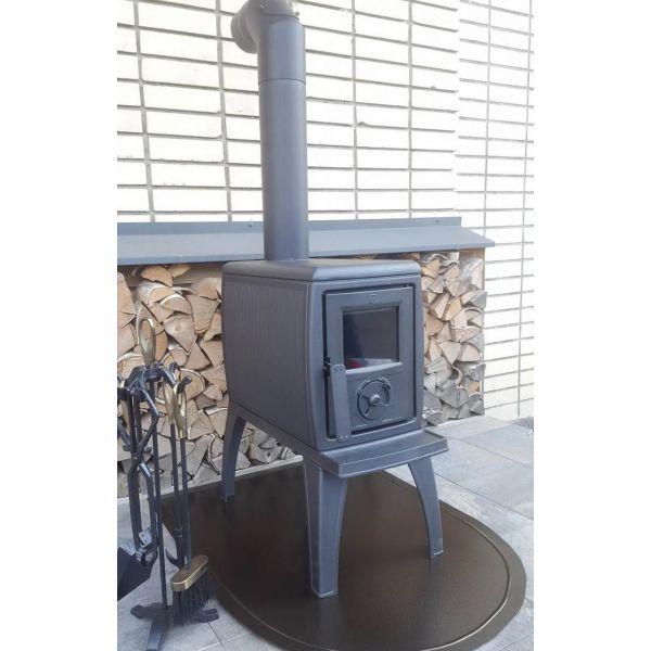 Печь TRENK, эмалированная, чёрная (Plamen)