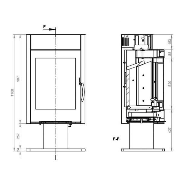 Дровяная печь EMBER Миляна SKI 400 DV