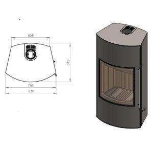 Дровяная печь EMBER Гордана 480 L+ black