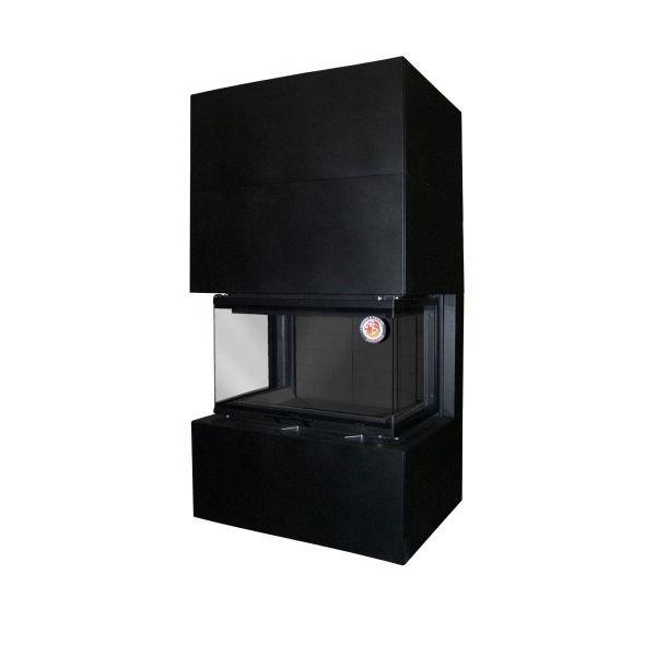 Камин РОДОС 800 черный  шамот