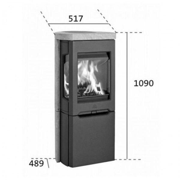 Jotul F 165 C BP чугунная печь-камин, 9 кВт