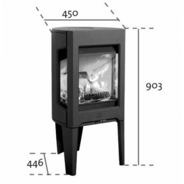 Jotul F 163 WHE чугунная печь-камин, 5 кВт