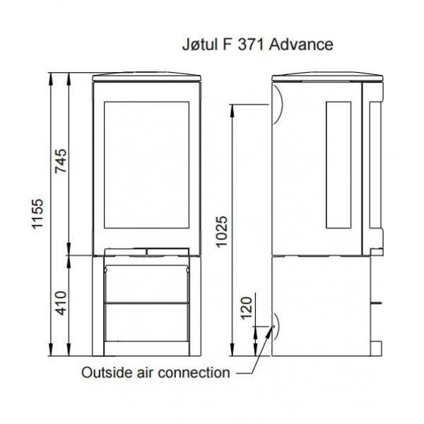 Jotul F 371 Advance BP чугунная печь-камин, 5 кВт
