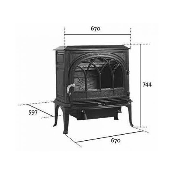 Jotul F 400 IVE чугунная печь-камин, 10 кВт