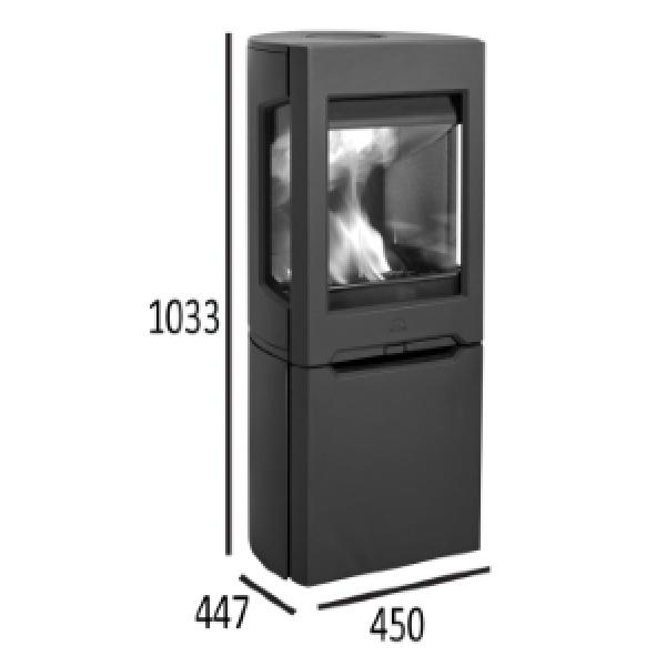 Jotul F 165 BP чугунная печь-камин, 5 кВт