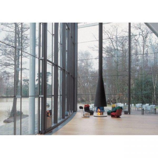 Камин дровяной Focus Filiofocus 1600 центральный, со стеклом