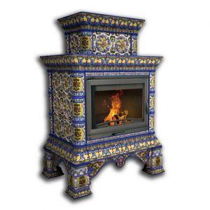 КимрПечь Кострома пристенный-двухъярусный роспись