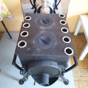 Отопительная печь Бренеран АОТ-06 тип 00 с 2х конфорочной плитой