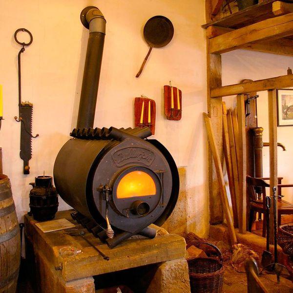 Отопительная печь Бренеран АОТ-14 тип 02 со стеклом