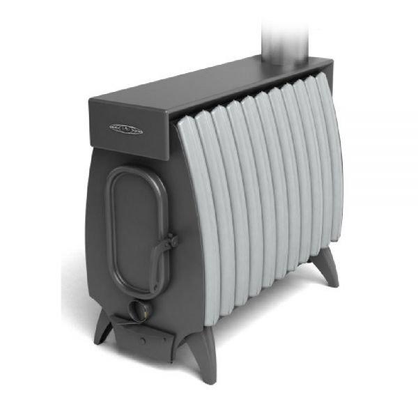 Отопительная печь ТМФ Огонь Батарея-11 Лайт антрацит-серый металлик
