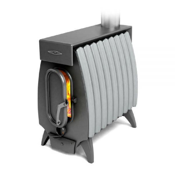Отопительная печь ТМФ Огонь Батарея-9 Лайт антрацит-серый металлик