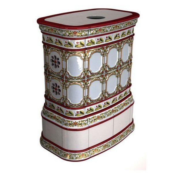 Изразцовая печь КимрПечь Сконе центральный роспись