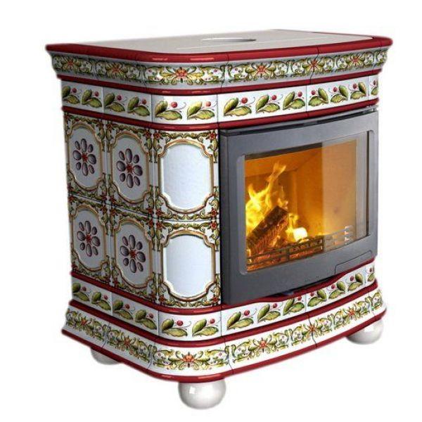 Изразцовая печь КимрПечь Сконе пристенный-мини роспись