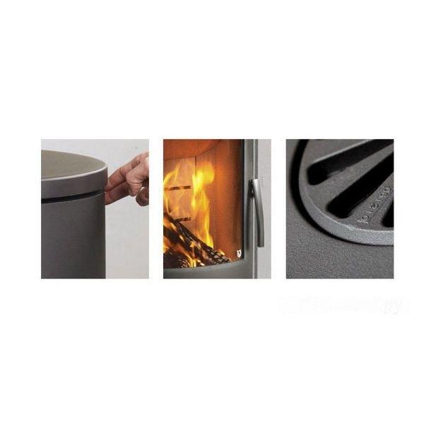 Печь камин Varde Shape 2, серый, талькомагнезит