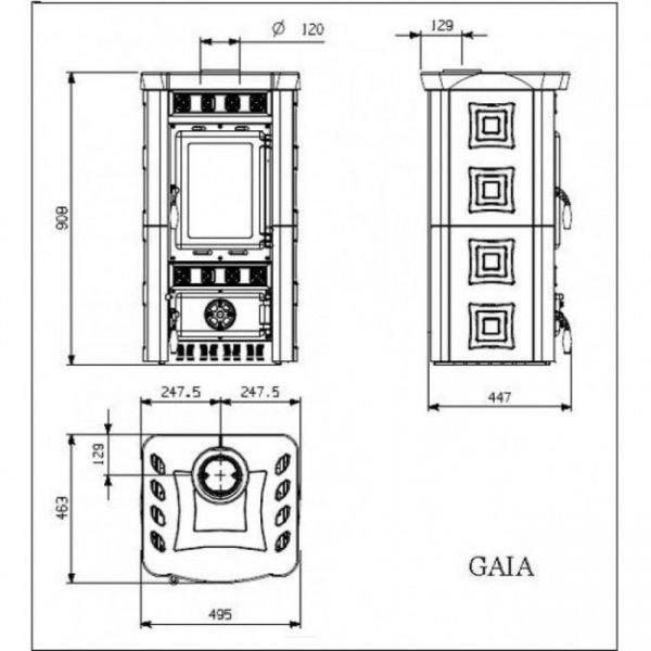 Печь-камин La Nordica Gaia