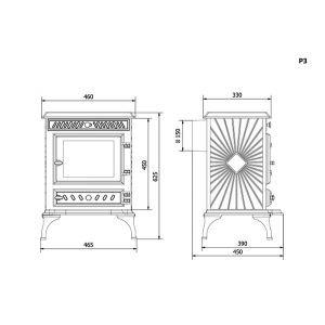 Чугунная печь Kaw-Met (P3 EKO)