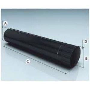 Дымоход одностенный эмалированный 0,8 d-115. L=1 Агни