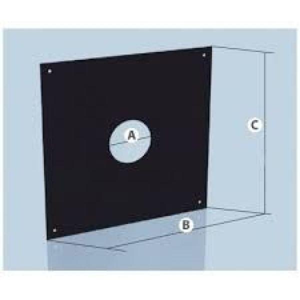 Фланец с полимерным покрытием 0,5 d-280, 700*700 Агни
