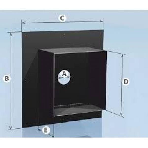Проходная разделка с полимерным покрытием 0,5 d-280, 620х620 Агни
