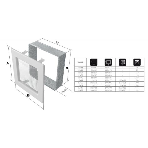 Вентиляционная решетка Рустик (11*32) 32R