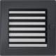 Вентиляционная решетка Графит (17*17) 17GX