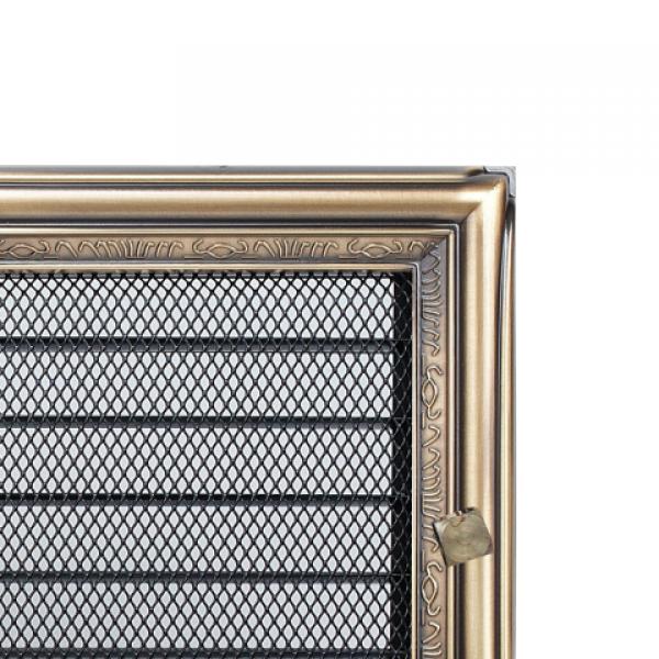 Вентиляционная решетка Рустик с задвижкой (22*22) 22RX