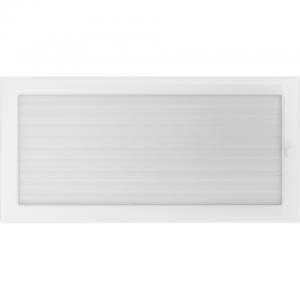 Вентиляционная решетка Белая с задвижкой (22*45) 22/45BX