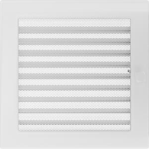 Вентиляционная решетка Белая с задвижкой (22*22) 22BX
