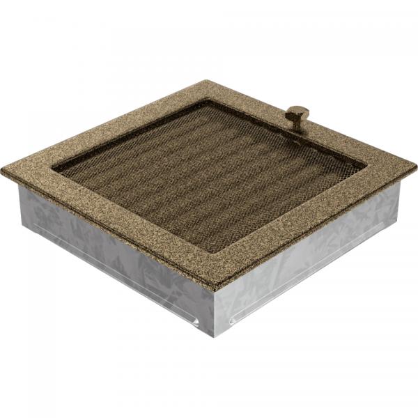 Вентиляционная решетка Черная/Золото с задвижкой 22CZX