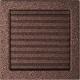 Вентиляционная решетка Латунь с задвижкой (22*22) 22MX