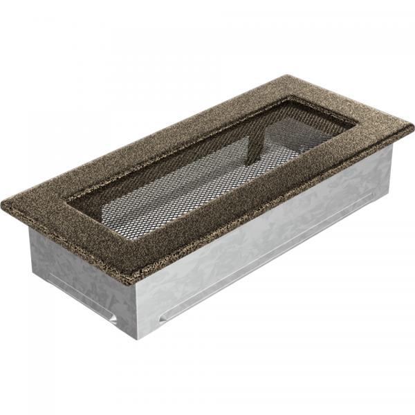 Вентиляционная решетка Черная/Золото (11*24) 24CZ